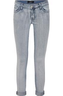 J Brand Cropped Mid Rise Boyfriend Jeans