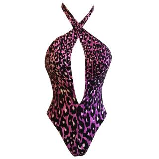 Gottex Silver Animal Magnetism Cut Out One Piece in Purple Potion