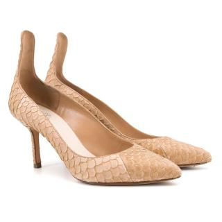 Francesco Russo Nude Point-Toe Pumps