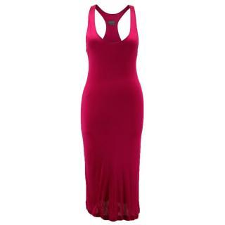 Halston Raspberry Cocktail Dress