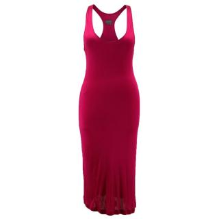 Halston Raspberry Cocktail Dress
