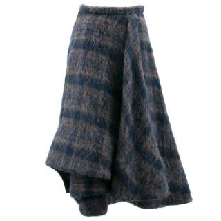 Brock Collection Blue Check Skirt
