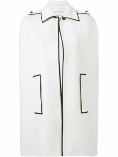 Valentino Women's white classic collar cape UK 8
