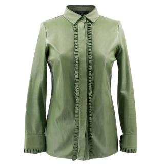 Gucci Green Leather Top