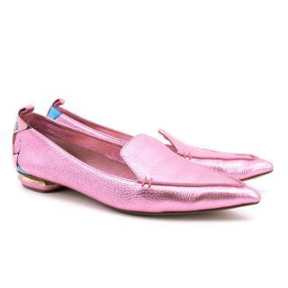 Nicholas Kirkwood Pink Loafers