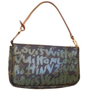 Louis Vuitton Monogram Graffiti Khaki Shoulder With Additional Strap