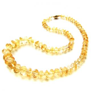 18ct gold & citrine necklace