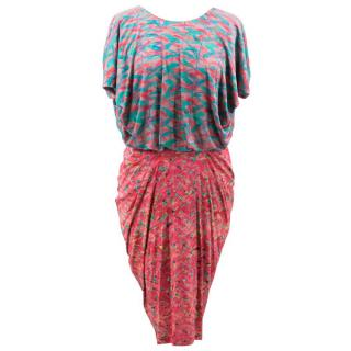 Saloni Multicolor Pattern Dress