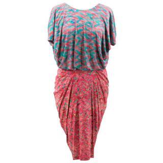 Saloni Multicolor Pattern Dress
