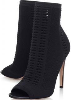 Gianvito Rossi Black Stretch Fabric Vires Boots