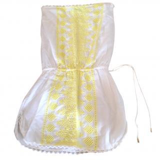 Melissa odabash white bandeau dress