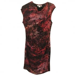 Helmut Lang red and black tie die