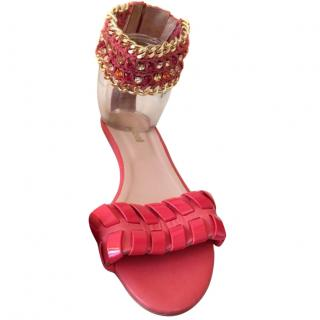 Just Cavalli Coral Embellished Sandals