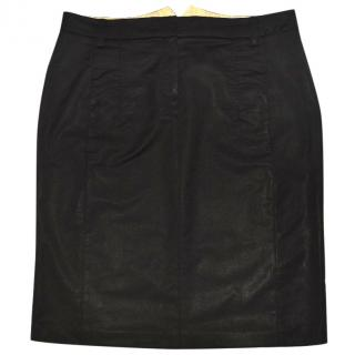 Schumacher Pencil Black Wool Skirt
