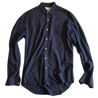Our Legacy Navy Silk Shirt