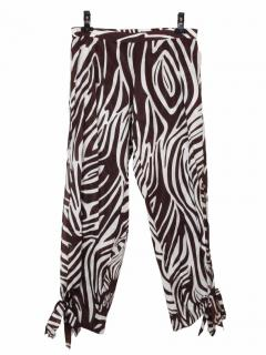 Diane von Furstenberg brown and white cotton trouser
