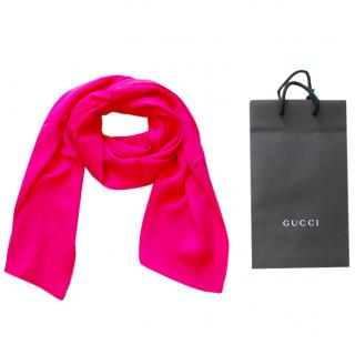 Gucci Fuchsia Silk Scarf