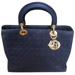 Lady Dior Vintage Navy Blue Tote