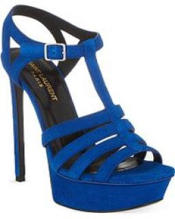 Saint Laurent Bianca Blue Heels