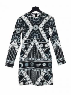 KTZ bodycon black and white print dress