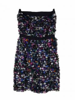 Diane von Furstenberg multicolour silk strapless dress