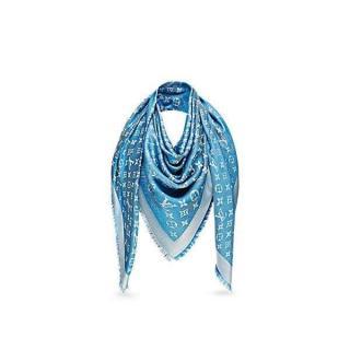 Louis Vuitton Blue Jeans Denim shawl scarf