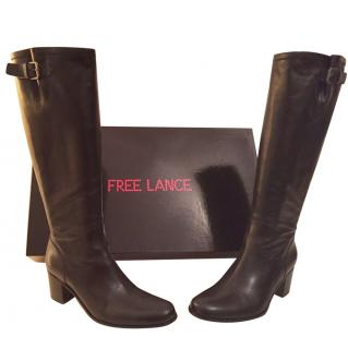 Free Lance Toss 7 Geronimo Black Knee High Boots