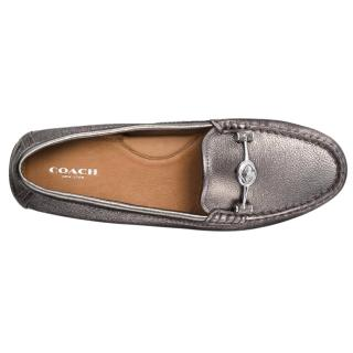Coach Leather Mocassin Flats