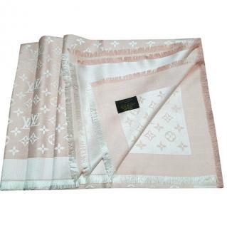 Louis Vuitton Pink Denim shawl scarf