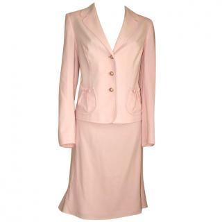 ESCADA baby pink skirt suit, size 40 jkt/42 skirt