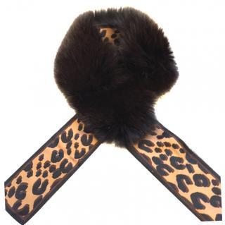 Louis Vuitton fox fur stole
