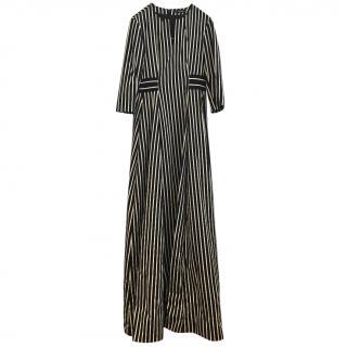 Max&Co black and white maxi dress