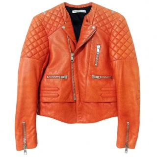 Balenciaga Quilted Leather Moto Jacket Size 38