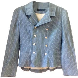 Ralph Lauren pinstripe Italian Linen Blazer size 6-8 UK