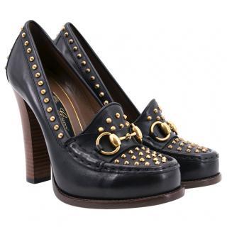 Gucci Alyssa Stud Moccasin Heels