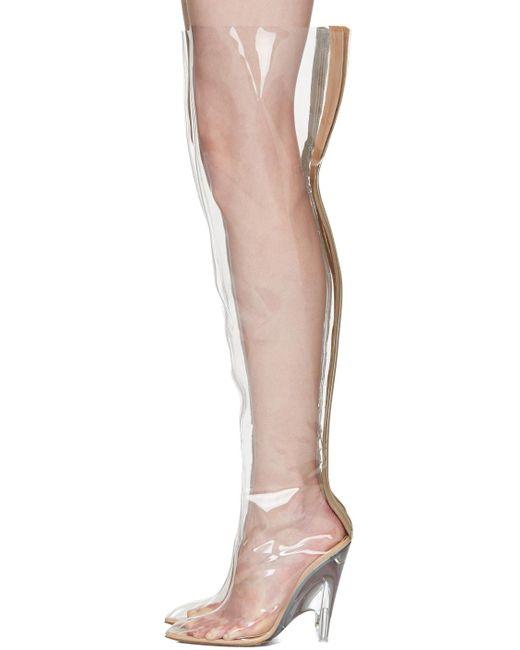 885782fefbf45 New Yeezy Tubular Pvc Plastic Thigh Boots