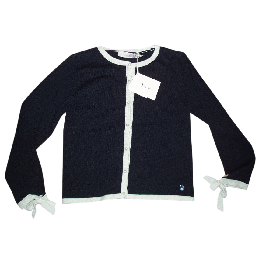CHRISTIAN DIOR cashmere blend girl's cardigan