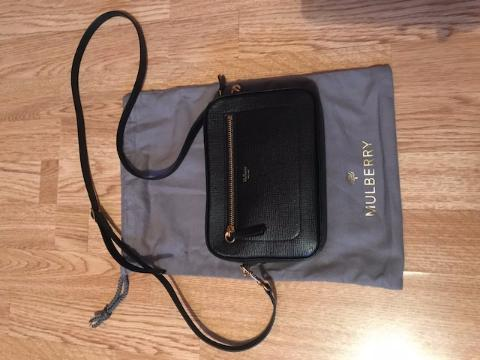 Mulberry camera bag black goatskin. 24. 1234 42d4f4595ada4