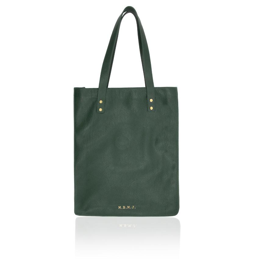 Marc by Marc Jacobs Green Werdie Boy Leather Tote Bag