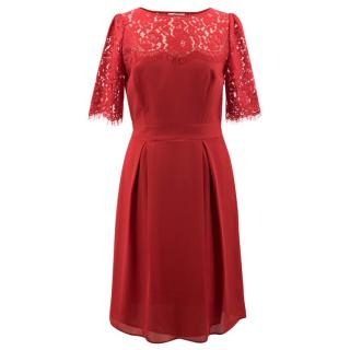Somerset by Alice Temperley Red Lace Dress