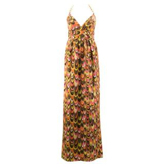 Milly Retro Silk Maxi Dress