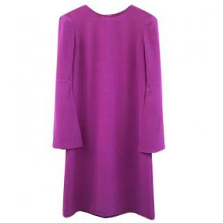 Stella McCartney Purple Silk Dress