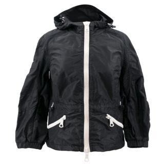 Moncler Black Hooded Rain Jacket