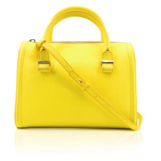 Victoria Beckham Acid Yellow Leather Bowler Bag