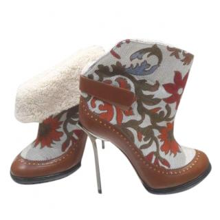 Bally Limited Edition embroidered ankle boots