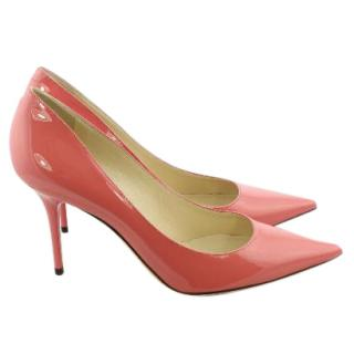 Jimmy Choo Pink Leather 'Romy' Pointy Toe Pumps UK 6.5