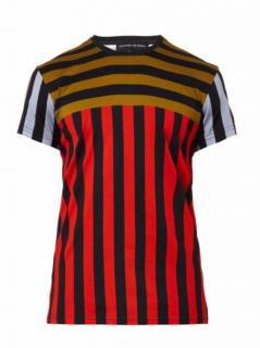 Jonathan Saunders Red Striped Cotton T-Shirt