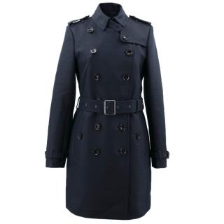 Burberry Brit Navy Blue Trench Coat
