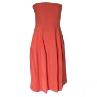 Stella McCartney coral strapless dress