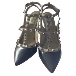 Valentino Rockstud Black leather heels